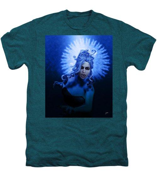 Gorgon Blue Men's Premium T-Shirt by Joaquin Abella