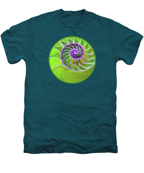 Green And Purple Spiral Men's Premium T-Shirt by Gill Billington