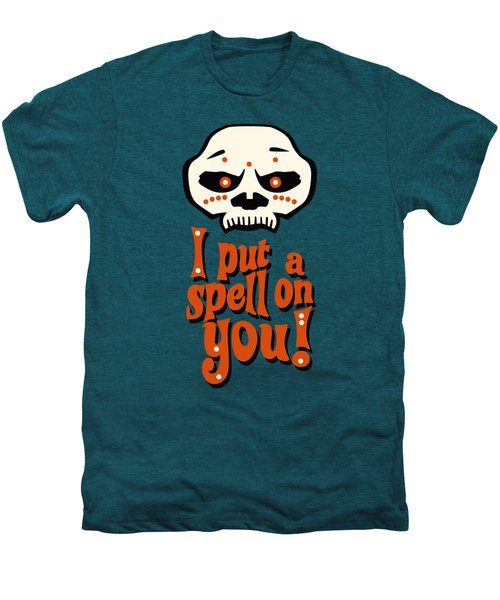 I Put A Spell On You Voodoo Retro Poster Men's Premium T-Shirt by Monkey Crisis On Mars