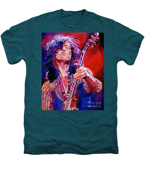 Jimmy Page Men's Premium T-Shirt by David Lloyd Glover