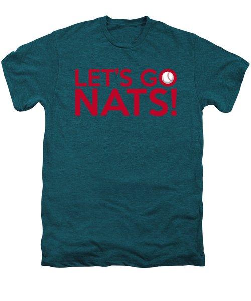 Let's Go Nats Men's Premium T-Shirt by Florian Rodarte