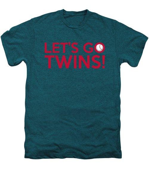 Let's Go Twins Men's Premium T-Shirt by Florian Rodarte