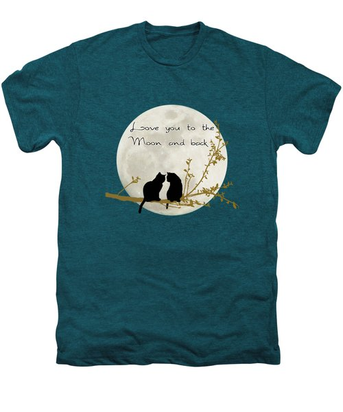 Love You To The Moon And Back Men's Premium T-Shirt by Linda Lees
