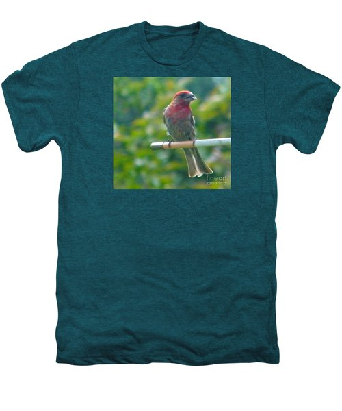 Male Crossbill With Sunflower Seed    August  Indiana Men's Premium T-Shirt by Rory Cubel
