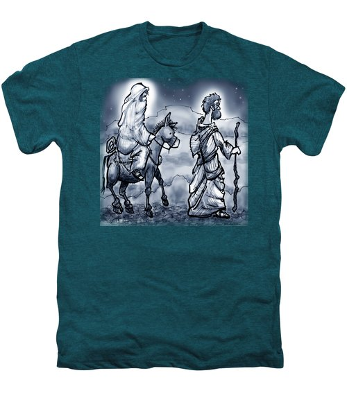 Mary And Joseph  Men's Premium T-Shirt by Kevin Middleton