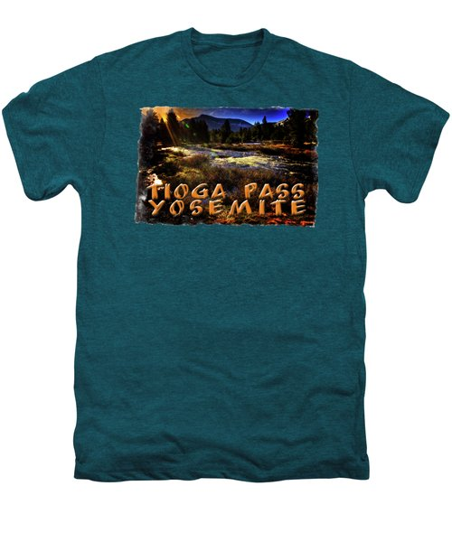 Mine Creek Between Lakes Ellery And Tioga Men's Premium T-Shirt by Roger Passman