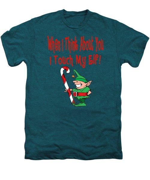 Naughty Christmas Elf Men's Premium T-Shirt by Susan Cooper