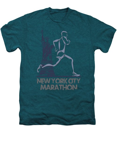 New York City Marathon3 Men's Premium T-Shirt by Joe Hamilton