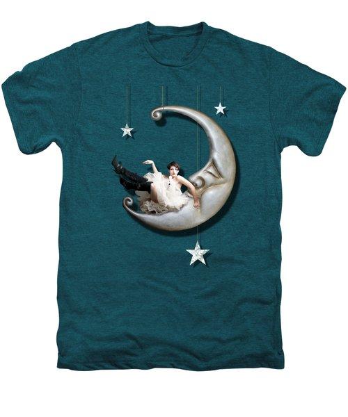 Paper Moon Men's Premium T-Shirt by Linda Lees