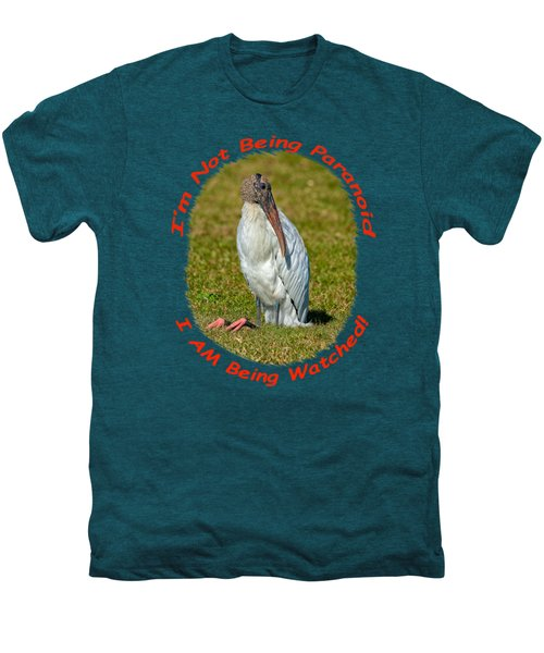 Paranoid Woodstork Men's Premium T-Shirt by John M Bailey