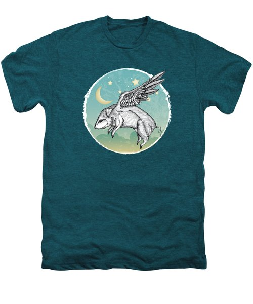 Pigs Fly - 2 Men's Premium T-Shirt by Mary Machare