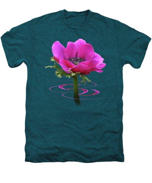 Pink Anemone Whirl Men's Premium T-Shirt by Gill Billington