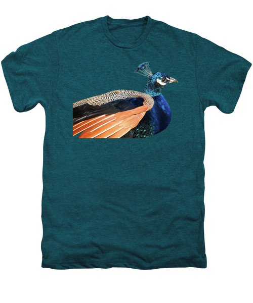 Proud Peacock Men's Premium T-Shirt by Gill Billington