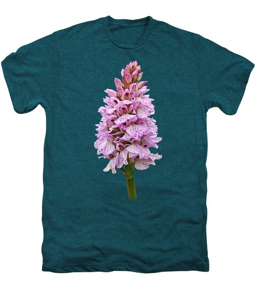 Radiant Wild Pink Spotted Orchid Men's Premium T-Shirt by Gill Billington