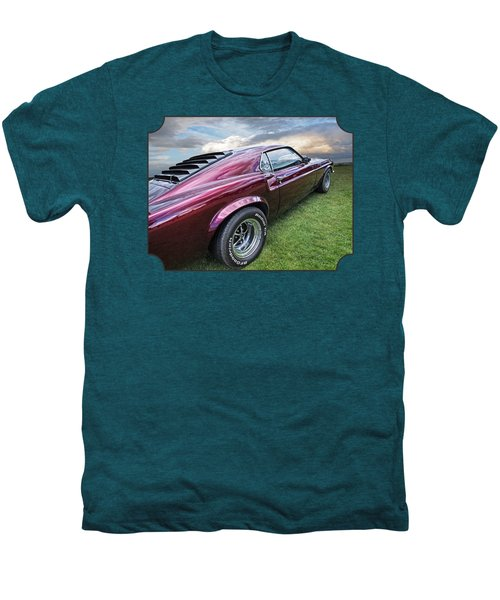 Rich Cherry - '69 Mustang Men's Premium T-Shirt by Gill Billington