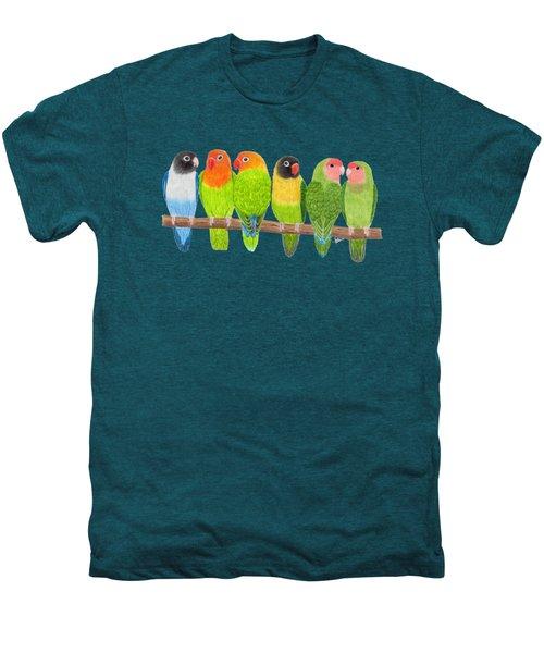 Six Lovebirds Men's Premium T-Shirt by Rita Palmer