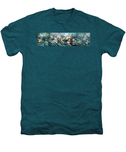 Something Fowl Afloat 2b Men's Premium T-Shirt by Patrick Anthony Pierson