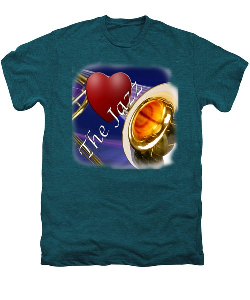 The Trombone Jazz 002 Men's Premium T-Shirt by M K  Miller