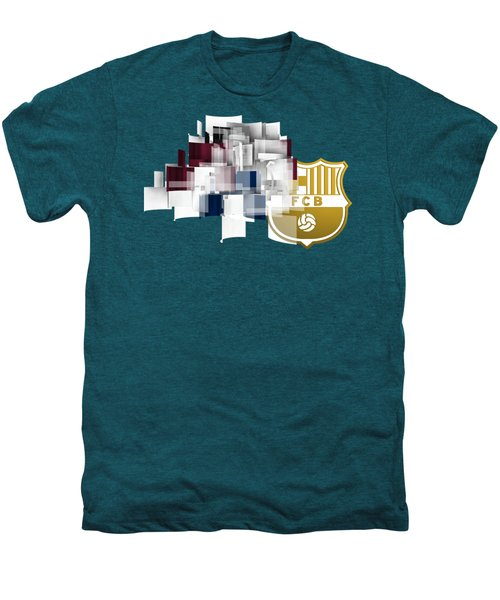 Tribute To Fc Barcelona 6 Men's Premium T-Shirt by Alberto RuiZ