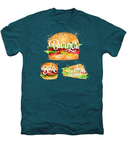 Vintage Burger Men's Premium T-Shirt by Aloke Design