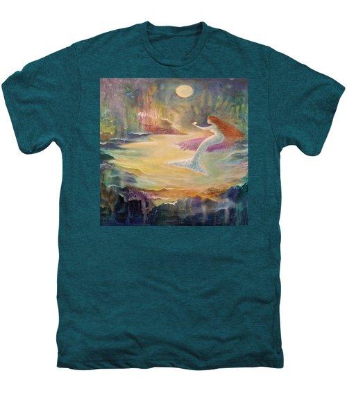Vintage Mermaid Men's Premium T-Shirt by Lily Nava