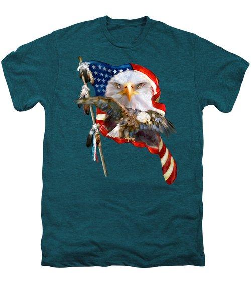 Vision Of Freedom Men's Premium T-Shirt by Carol Cavalaris