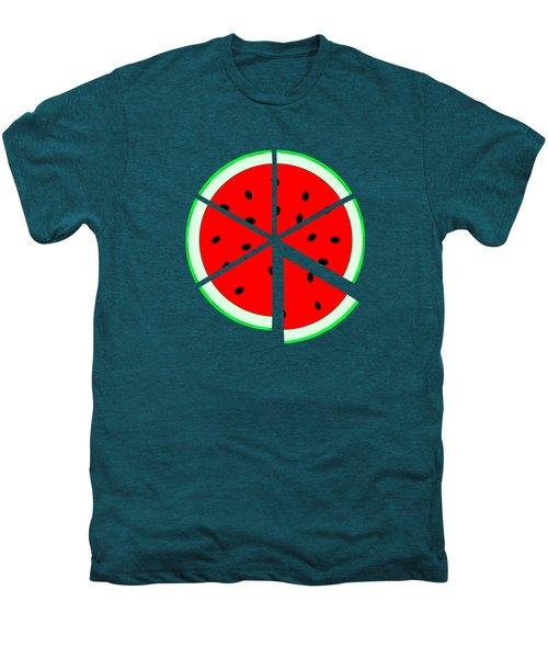 Watermelon Wedge Men's Premium T-Shirt by Susan Eileen Evans