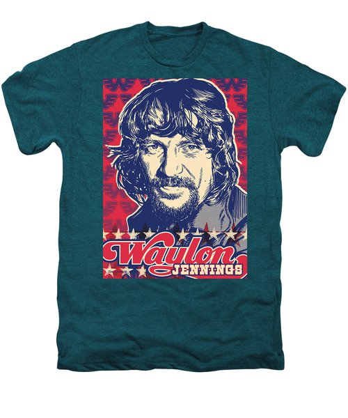 Waylon Jennings Pop Art Men's Premium T-Shirt by Jim Zahniser