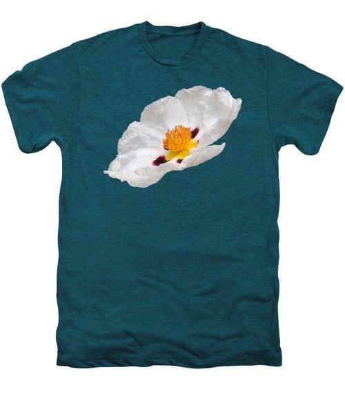 White Cistus Men's Premium T-Shirt by Gill Billington
