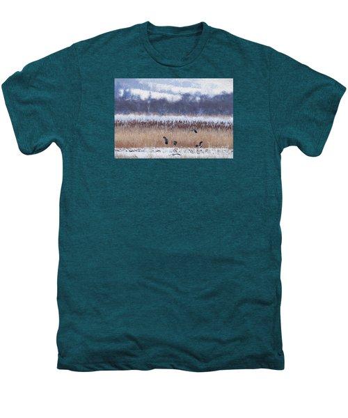 Winter Lapwings Men's Premium T-Shirt by Liz Leyden