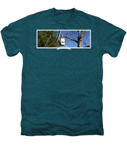 Woodland Tree Service Men's Premium T-Shirt by Evergreenarborists