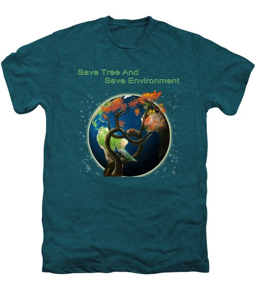 World Needs Tree Men's Premium T-Shirt by Artist Nandika  Dutt