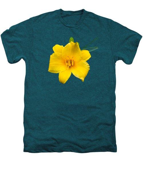Yellow Daylily Flower Men's Premium T-Shirt by Christina Rollo