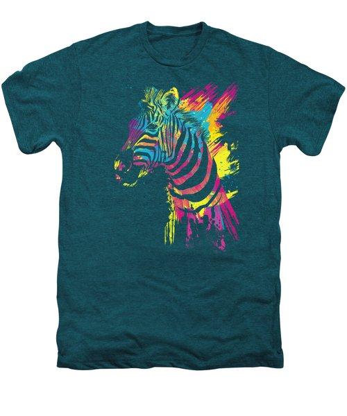 Zebra Splatters Men's Premium T-Shirt by Olga Shvartsur