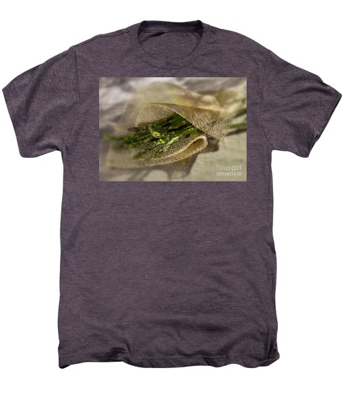 Green Asparagus On Burlab Men's Premium T-Shirt by Iris Richardson