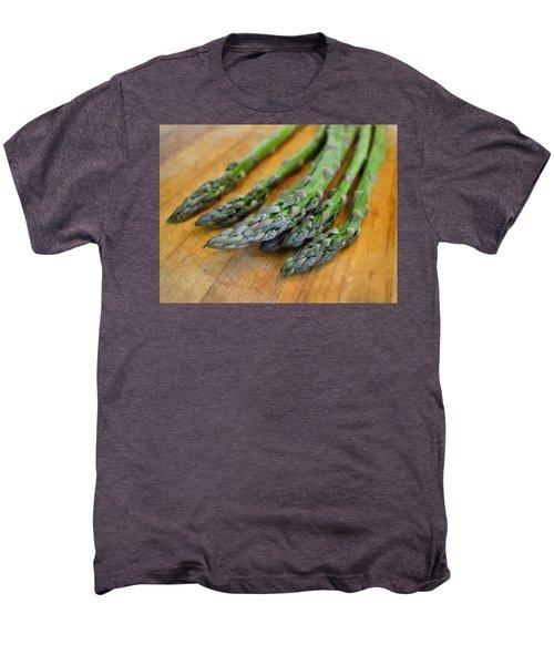 Asparagus Men's Premium T-Shirt by Michelle Calkins
