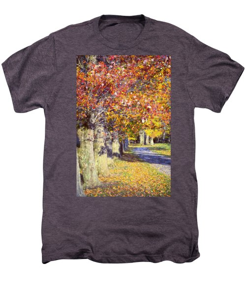 Autumn In Hyde Park Men's Premium T-Shirt by Joan Carroll