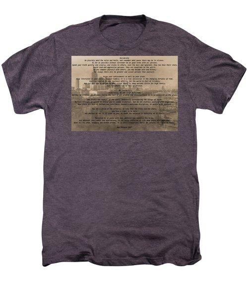 Desiderata Nashville Men's Premium T-Shirt by Dan Sproul