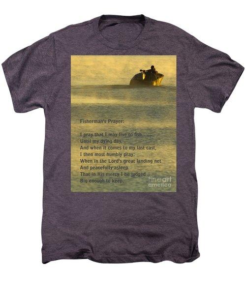 Fisherman's Prayer Men's Premium T-Shirt by Robert Frederick