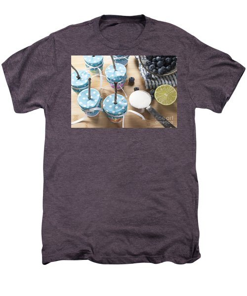 Homemade Blueberry Popsicles Men's Premium T-Shirt by Juli Scalzi