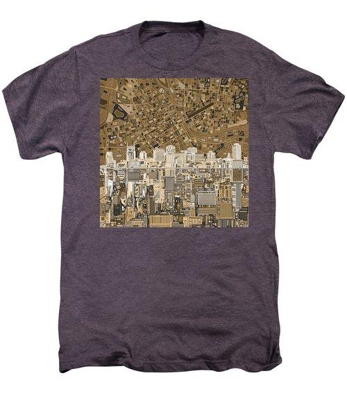 Nashville Skyline Abstract 2 Men's Premium T-Shirt by Bekim Art