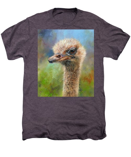 Ostrich Men's Premium T-Shirt by David Stribbling