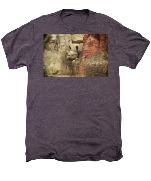 Peek A Boo Rhino Men's Premium T-Shirt by Thomas Woolworth