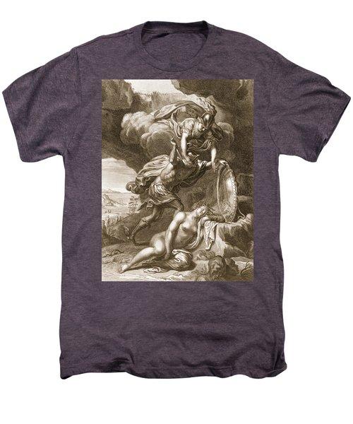Perseus Cuts Off Medusas Head, 1731 Men's Premium T-Shirt by Bernard Picart