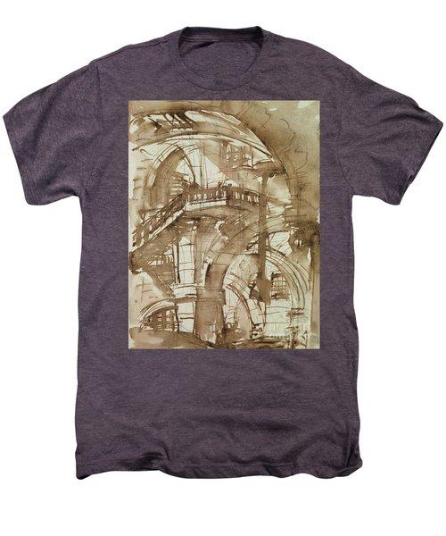Roman Prison Men's Premium T-Shirt by Giovanni Battista Piranesi