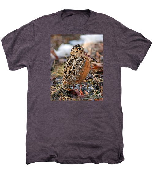Timberdoodle The American Woodcock Men's Premium T-Shirt by Timothy Flanigan