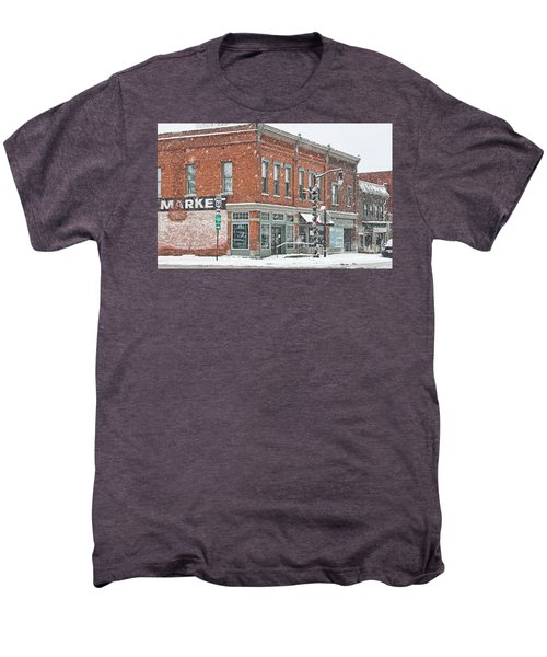 Whitehouse Ohio In Snow 7032 Men's Premium T-Shirt by Jack Schultz