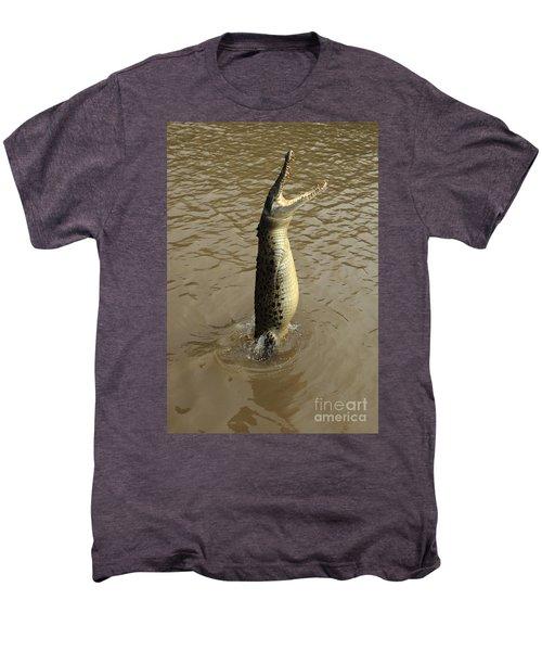 Salt Water Crocodile Men's Premium T-Shirt by Bob Christopher