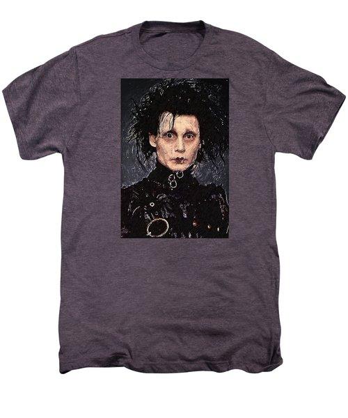 Edward Scissorhands Men's Premium T-Shirt by Taylan Soyturk