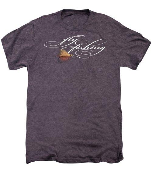 Fly Fishing Elk Hair Caddis Men's Premium T-Shirt by Rob Corsetti